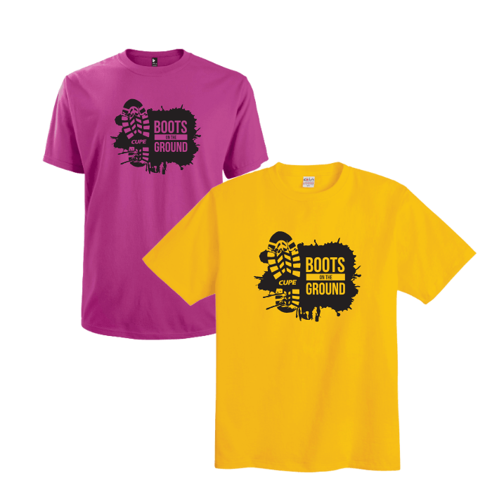 CUPE Newfoundland - Boots on the Ground shirt
