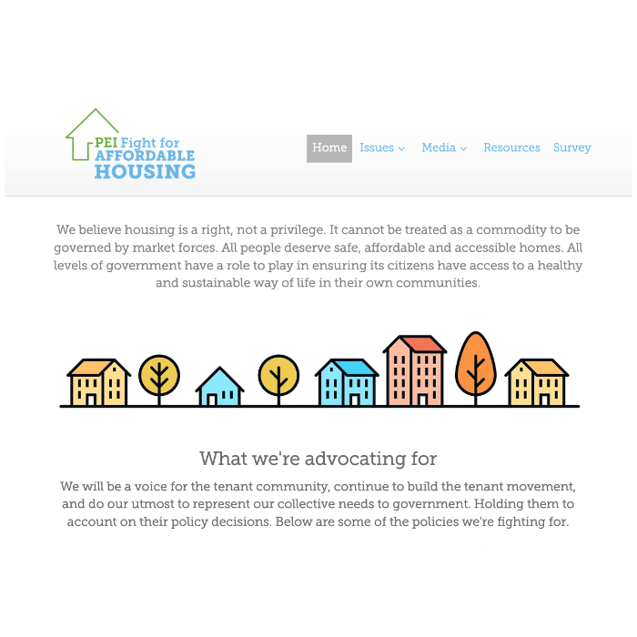 PEI Fight For Affordable Housing - Homepage