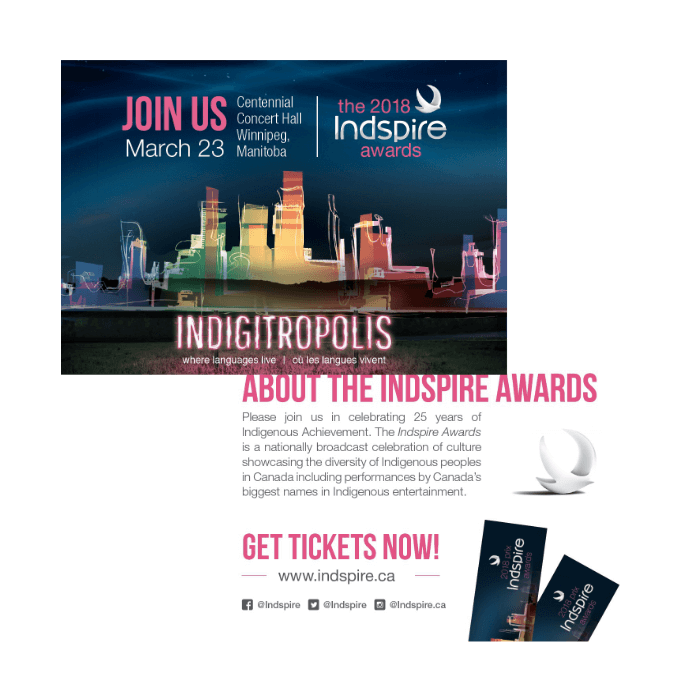 2018 Indspire Awards direct mail